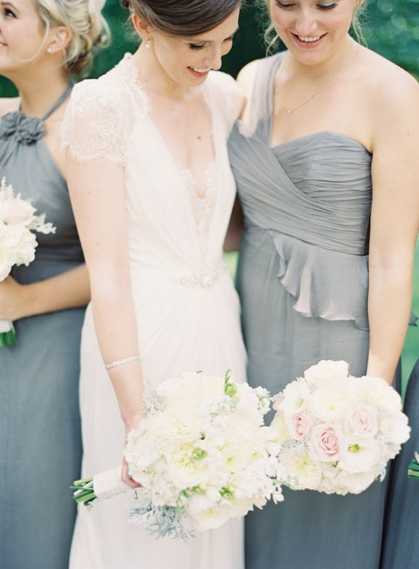 Gray Bridesmaid Dresses | photography by http://www.claryphoto.com