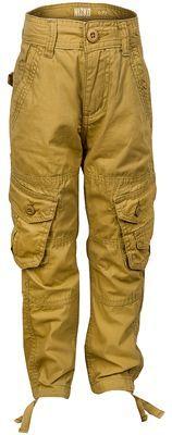 Nové - Hořčicové plátěné kalhoty s kapsami zn. Nisko