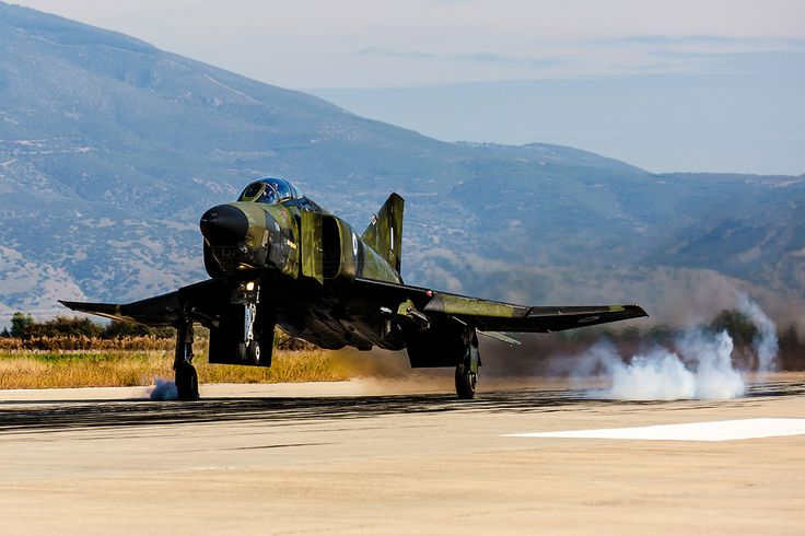 https://flic.kr/p/TxiKh4   'Smokin Touchdown', RF-4E Phantom II, 7496, Hellenic Air Force   348MTA (TRS), 110CW, Larissa AFB, Thessaly, Greece