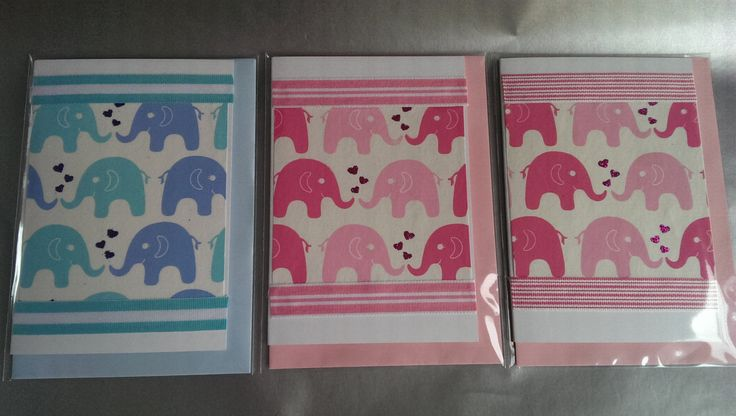 New baby card, baby elephant, handmade card, baby's birthday, textured papers, ribbons, glitter by SilverpressShop on Etsy
