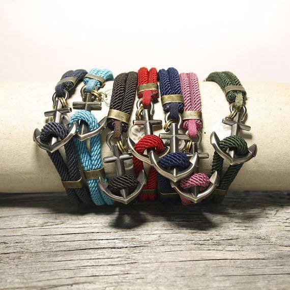 Nautical sailor's anchor bracelet New Haven, by Maris Sal - bymarissal.etsy.com