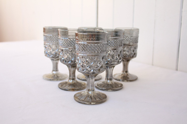 Vintage Cordial Glasses Hollywood Regency Wexford Pewter Mist Anchor Hocking Glassware Barware Etsy