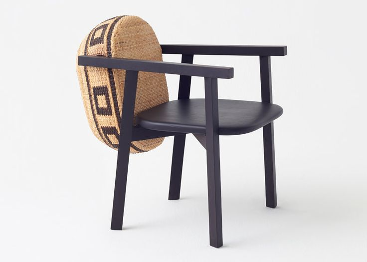 Japanese studio Nendo has turned woven bamboo baskets into backrests for chairs in this furniture range.