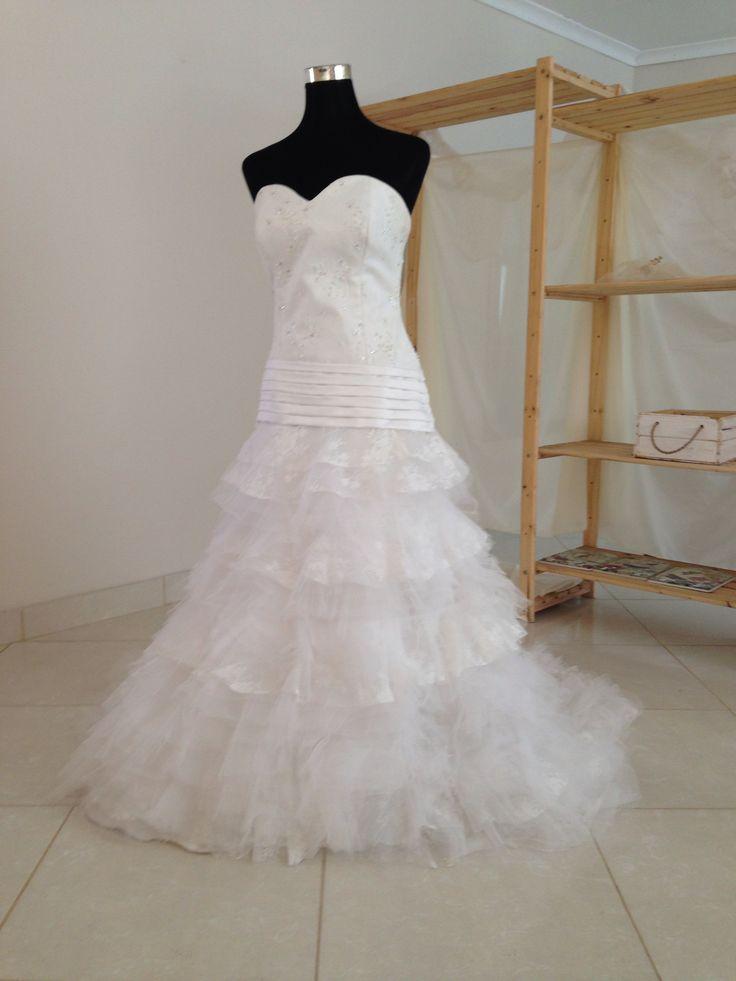 Lace layered wedding dress