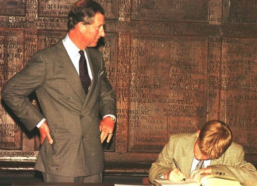 Harry registers at Esher College in 1998