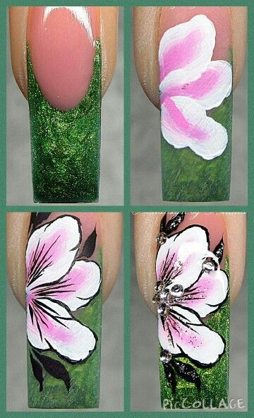 Nail art Step by step flower