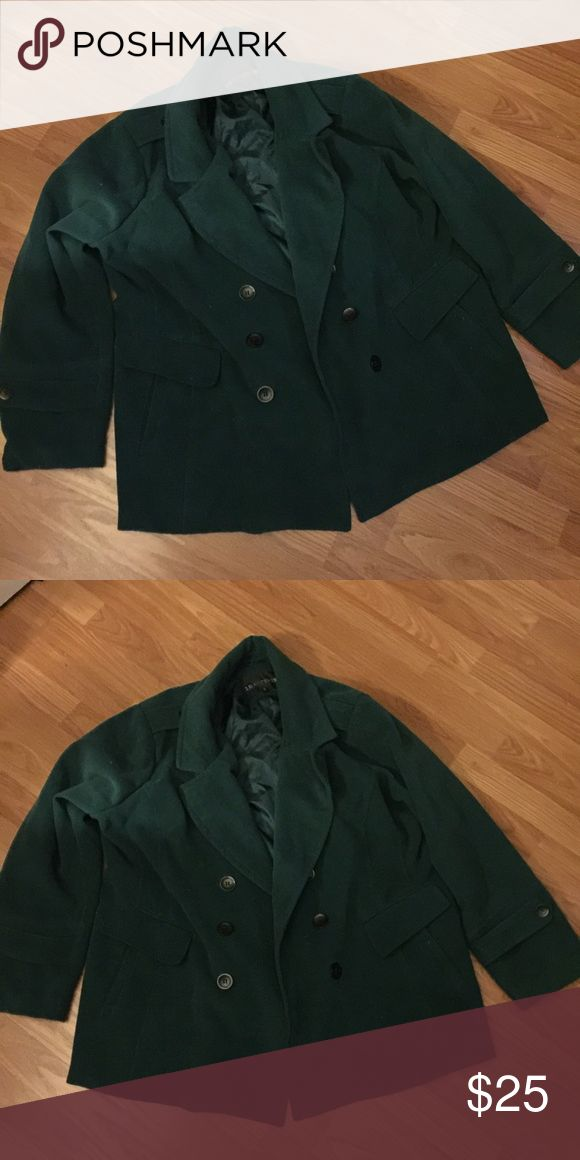 Plus size peacoat green 3X This is a green plus size Pea coat. It's comfortable and has only been worn a couple of times but is warm and looks great on! Jackets & Coats Pea Coats
