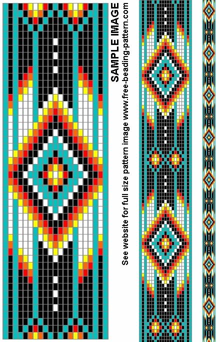 Free+Native+American+Beadwork+Patterns | Belt bead pattern for Native American Regalia | Beading...