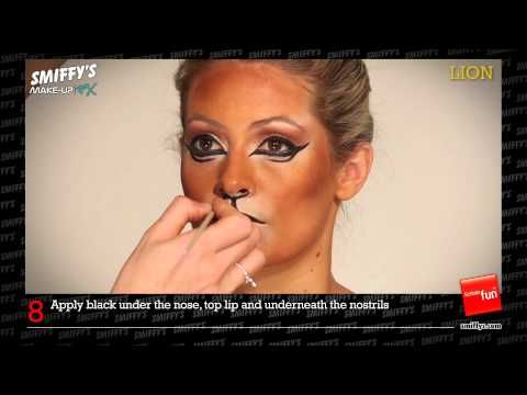 ▶ Lion Face Painting Make-up Tutorial - YouTube