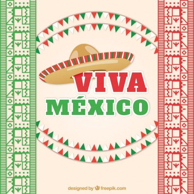 Viva México Vetor grátis