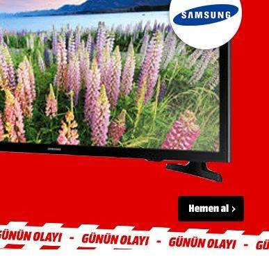 Media Markt, BUGÜNE ÖZEL: SAMSUNG UE40J5270SSXTK Dahili Uydu Alıcılı Full HD Smart LED TV Sadece 1899TL