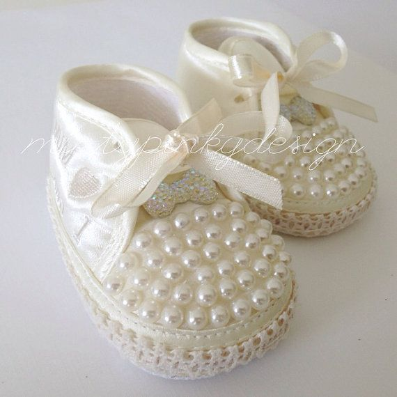 Ivory newborn baby girl shoes baby crib shoes 0 3 months