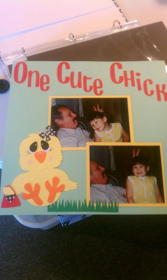One Cute Chick scrapbook pageFabulous Scrapbook, Chicks Scrapbook, Scrapbook Layout, Scrapbook Pages