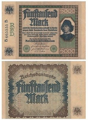 5-ooo-Marks-German-banknote-issued-in-16-09-1922-B-B-vf-Spinelli