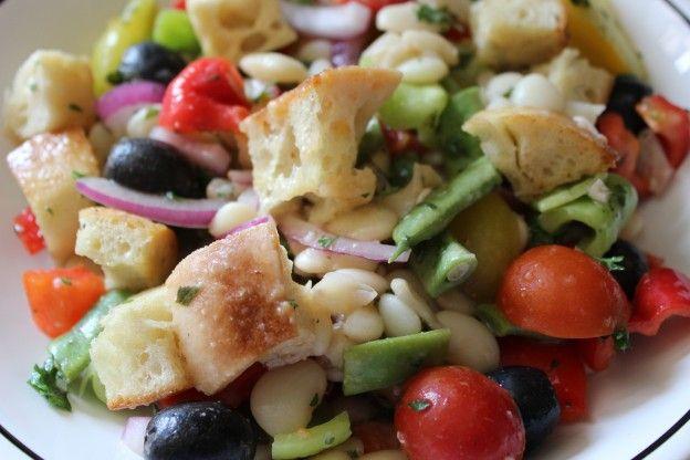Panzanella Salad with three beans   crave veg.   Pinterest