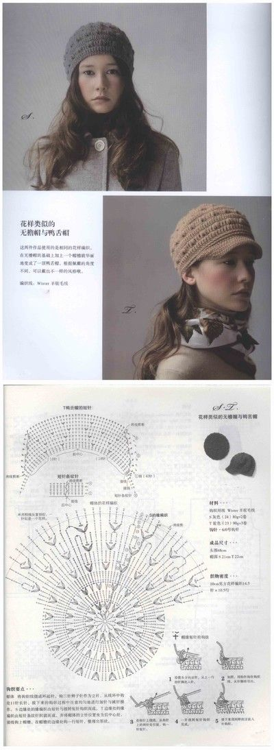 15 best 패턴모자 images on Pinterest | Hat crochet, Crochet hats and ...