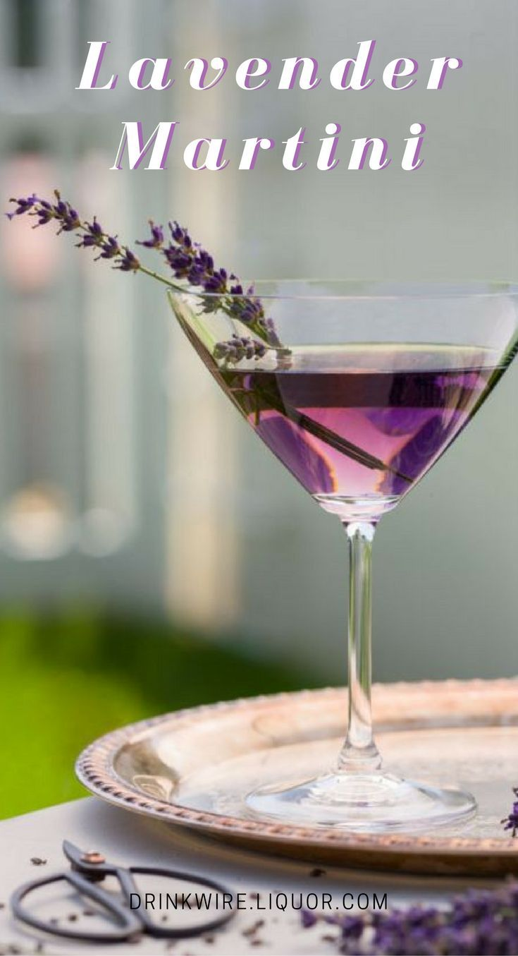 Get intoxicated by the vision and fragrance of sublime purple. Inspired by everyone's favorite fragrant flower, this martini uses lavender bitters to liven up the flavor.
