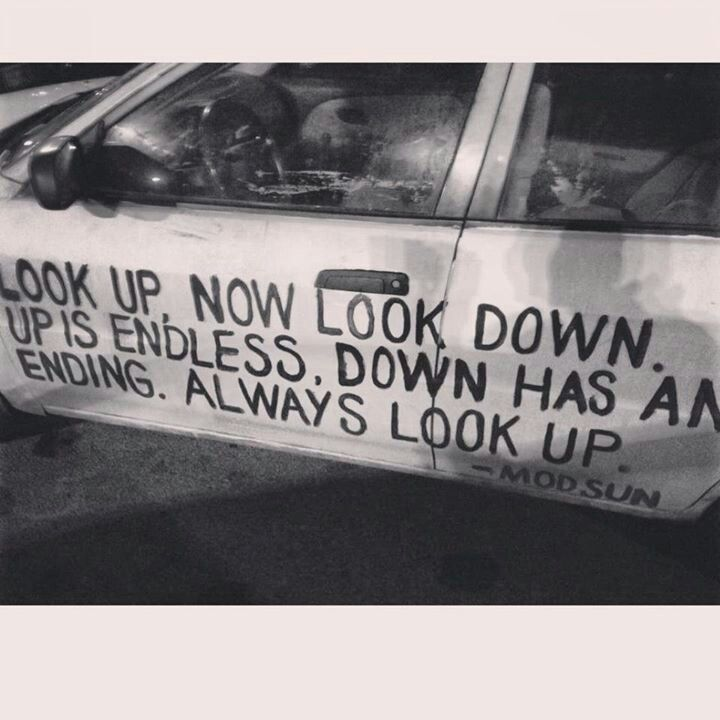 """""""Look up, now look down. Up is endless, down has an ending. Always look up."""" - Mod Sun, Look Up will be available on March 10, 2015."""