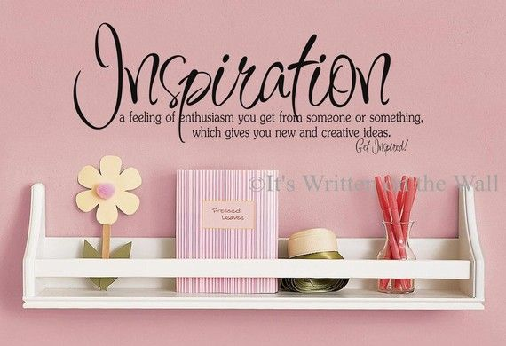 Inspiration definition craft room decor art studio for Vinyl sayings for crafts
