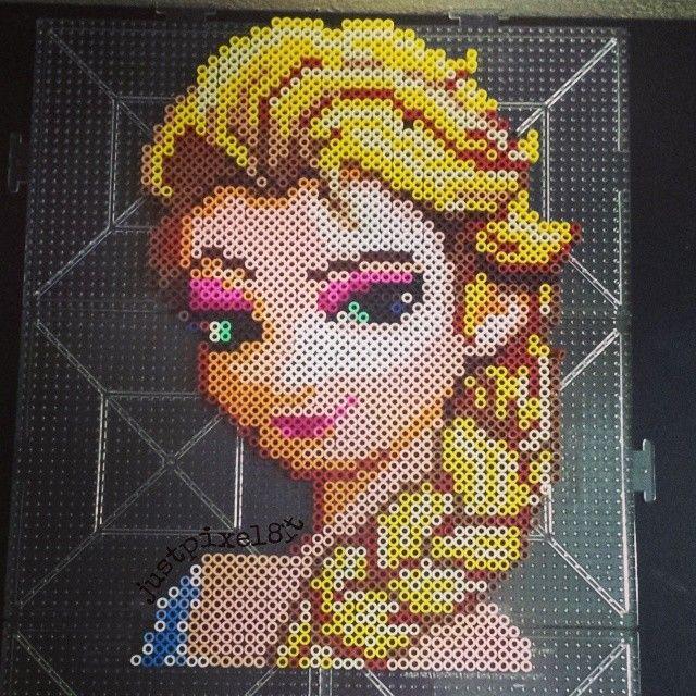 Elsa - Frozen perler beads by justpixel8it