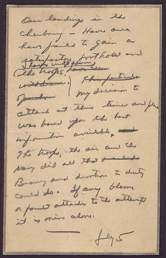 d day eisenhower message