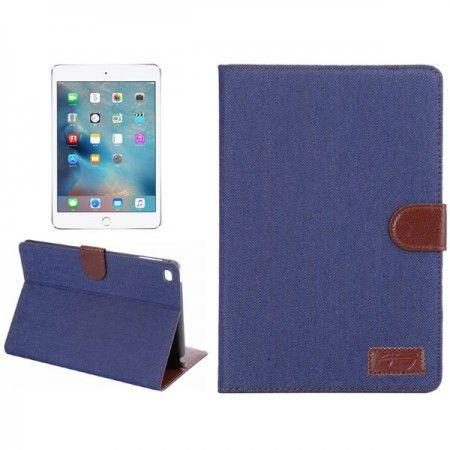 Peau Bleue Cas De Livre Pour Ipad Mini 4 sdWemREw