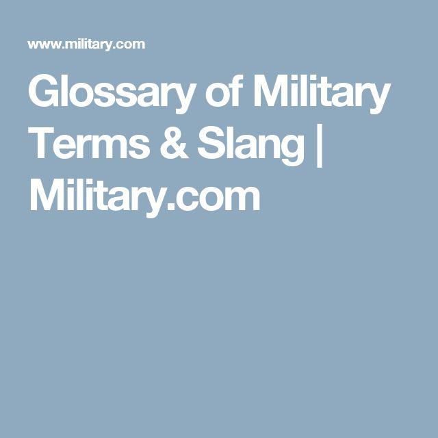 Glossary of Military Terms & Slang | Military.com