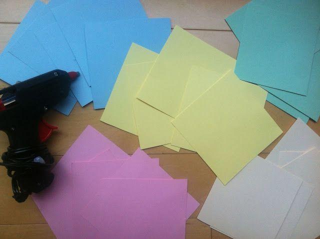Materiales para DIY Flores de papel