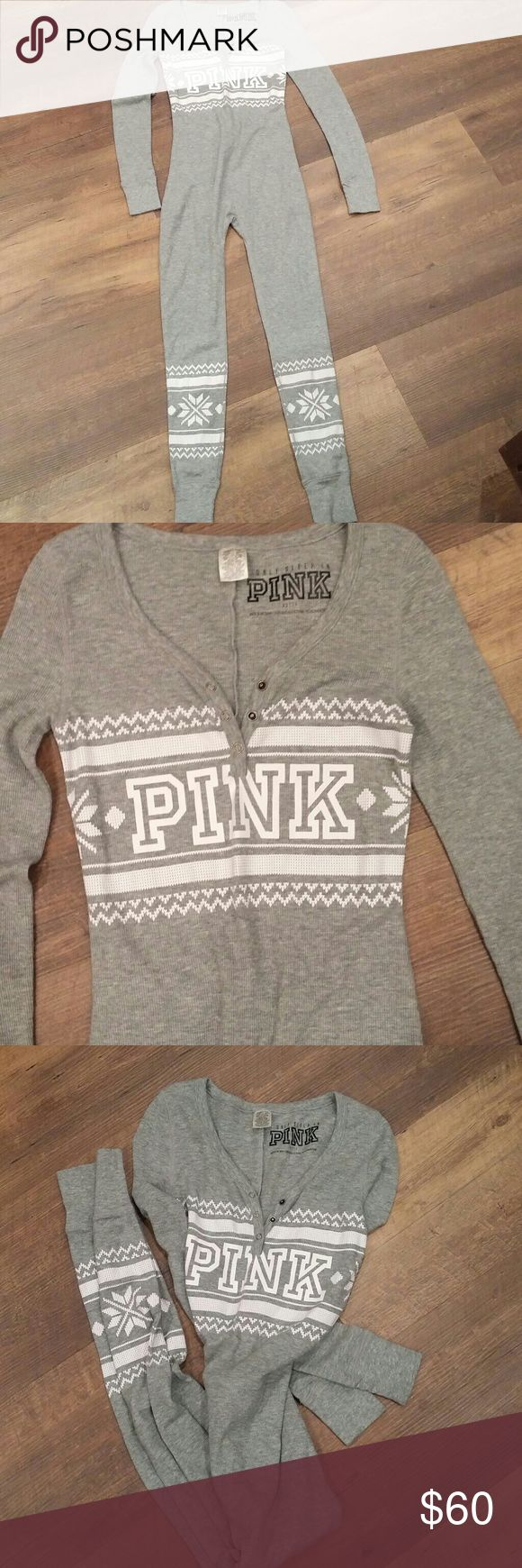 New! PINK Victoria's Secret long john onesie New without tags PINK Victoria's Secret Intimates & Sleepwear Pajamas