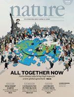 """Nature n° 7579 : """" All together now : Paris climate talks bring high hopes for a new global agreement """"."""
