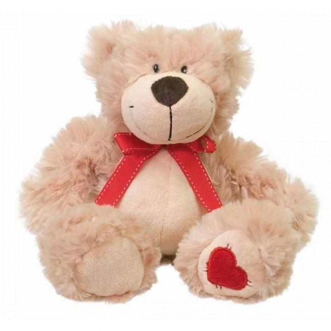 Kleurrijke pluche mascotte met een rood hartje onder op de poot en een rood lint met strik. Scotty de beer is een vriend voor altijd. Scotty de beer is gemaakt van hoge kwaliteit pluche. De beer voelt lekker zacht en knuffelig aan.
