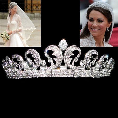 Jedinečná žiarivá svadobná korunka inšpirovaná korunkou princeznej Kate Midletton