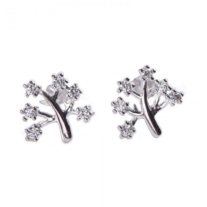 4a3b287d2 Jeulia Tree Shape Women's Stud Earrings Sterling Silver - Jeulia Jewelry