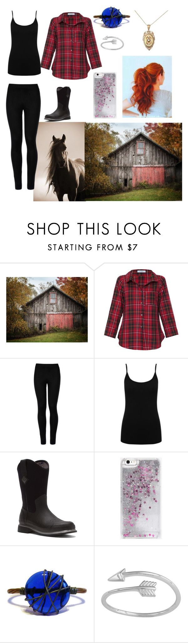 """""""Letha mucks the stalls"""" by lostgirl98 ❤ liked on Polyvore featuring Vitamin, Wolford, M&Co, The Original Muck Boot Company, Skinnydip and Midsummer Star"""