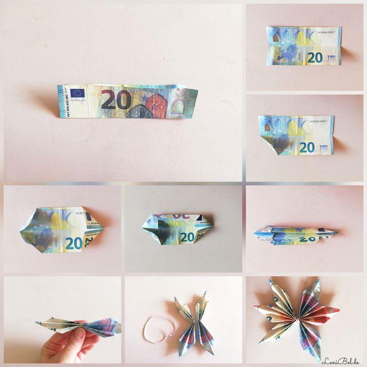 Geldgeschenk – Sterne aus Geldscheinen falten