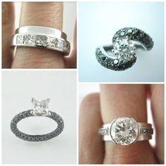 Diferentes modelos de anillo de compromiso.