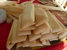 Tamales De Pollo Con Chile Verde- Green Chile Chicken Tamales from Food.com: These tamales are really moist and the filling is full of flavor.