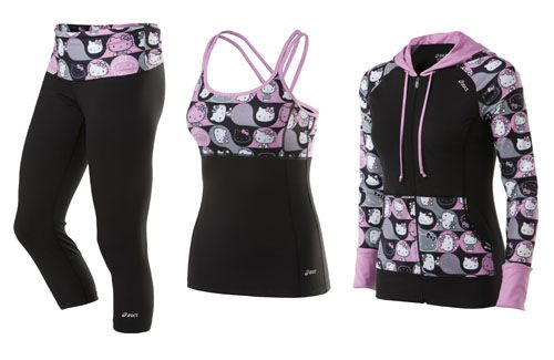 Hello Kitty Asics Workout Gear!...Ashley I thought of you when I saw this.
