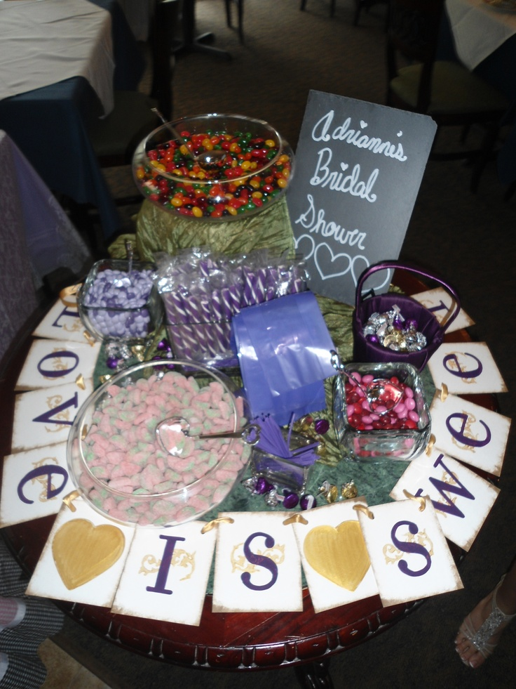 Candy table at my bridal shower