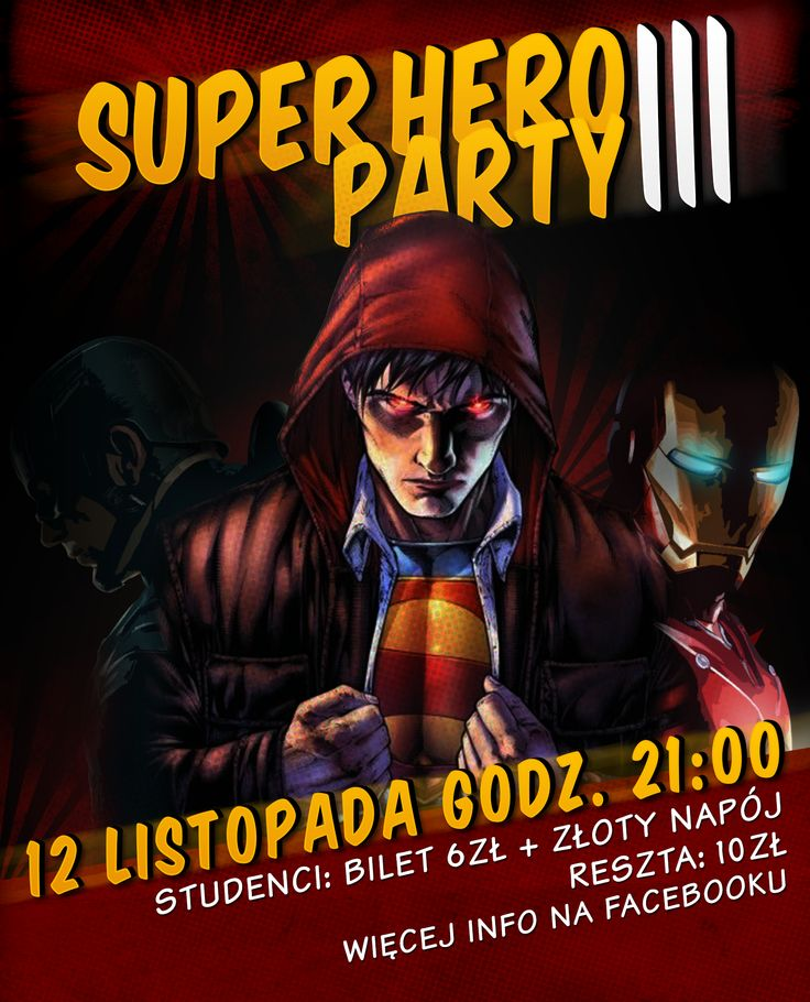 Poster Super Hero Party 3