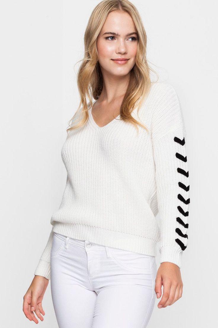 White Knitted Jumper