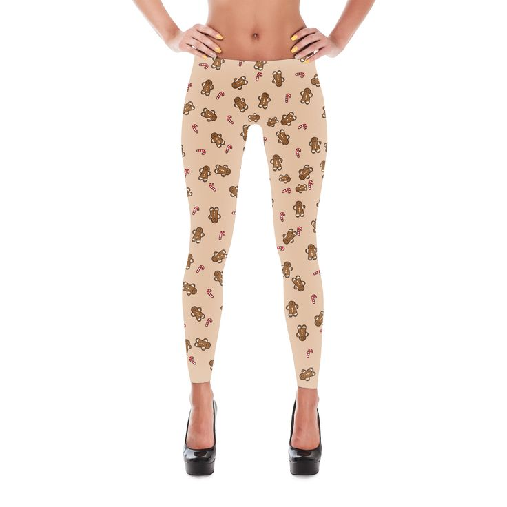 Gingerbread Man Leggings - Christmas Leggings - CandyCane Leggings - Yoga Leggings - Winter Legging