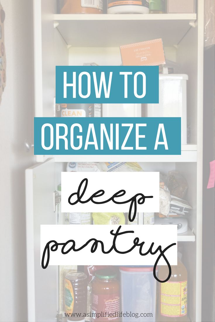 With a few plastic bins and some smart organizing, your deep pantry can be totally functional and work for your lifestyle!