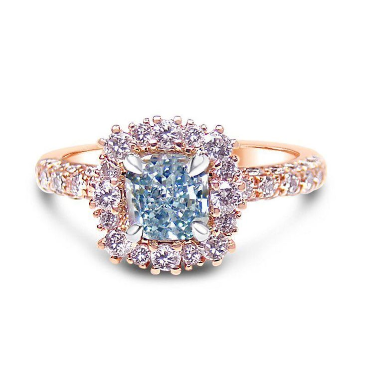 613 best Blue Diamonds images on Pinterest Blue diamonds Rings