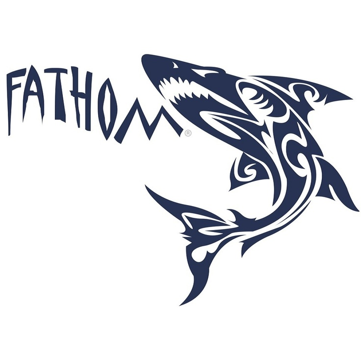 The Fathom Wear Shark. Design trademarked and copyrighted by Fathom Wear®