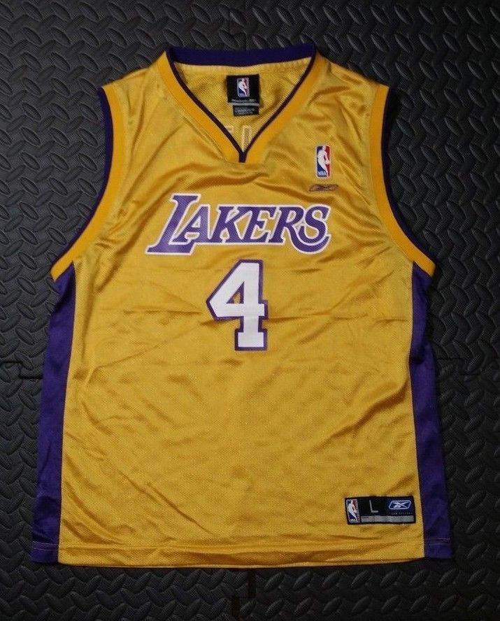 fb69225f9 Youth Boys Reebok Walton L.A Lakers Basketball Jersey SZ L 14-16 Multi  Color