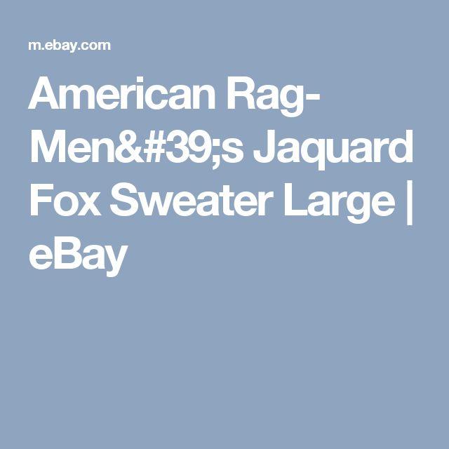 American Rag- Men's Jaquard Fox Sweater Large  | eBay