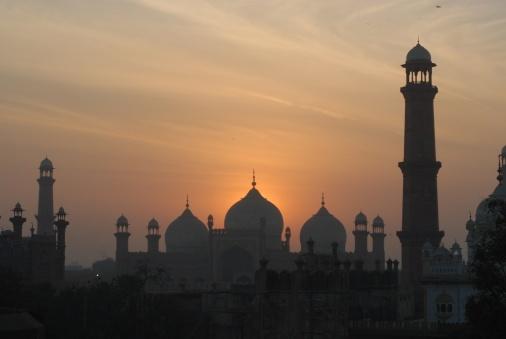 Badshahi Mosque at sunset, Lahore, Pakistan