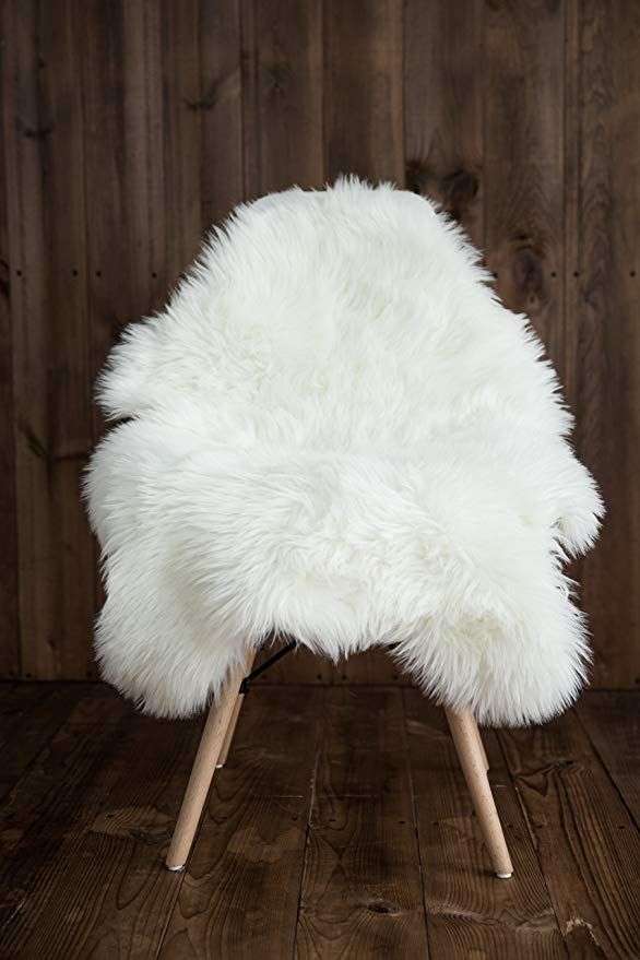 My Comfy Zone Sheepskin Faux Fur Chair Cover Rug Seat Pad Area Rugs For Bedroom Sofa Floor Vanity Nursery Decor Iv White Faux Fur Rug Bedroom Rug Bedroom Sofa