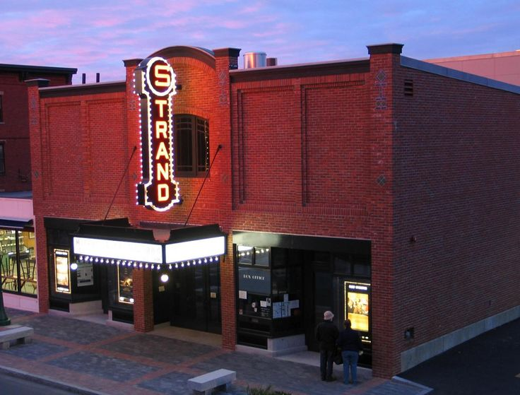 Rockland, ME - The 1923 Strand Theatre is on the National Register of Historic Places